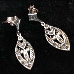 Silver style earrings